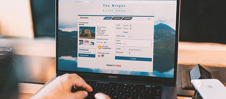 réservation en ligne hôtel gestion hôtelière